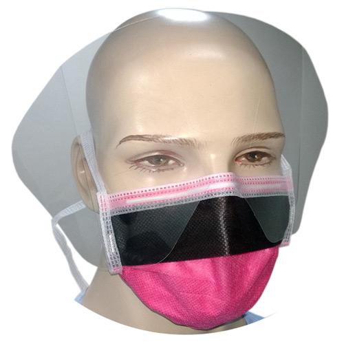 4-Ply Visor Mask - Dark Pink